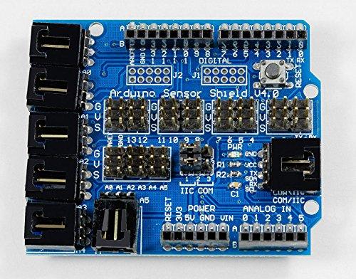MissBirdler Arduino Sensor Shield V4 für Arduino UNO Mega Duemilanove Servo Motor Stepper
