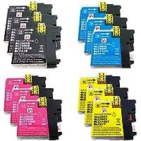 PerfectPrint - 12 cartuchos de tinta LC-985 de impresora compatible para Brother MFC-J220 MFC-J265W MFC-J410 DCP-J125 DCP-J315W DCP-J415W DCP-J515W