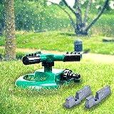 Garten Sprinkler Astarye 3- Arm Automatik Rasen Wasser Sprinkler 360 ° Vollständig Kreis Gewichtszunahme und Floating Prevent Einstellungen Rotierende Sprinkler System