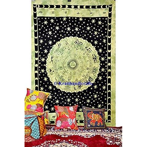 Verde Zodiac Arazzi, Hippie Mandala lenzuola di