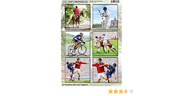 Craft Creations Non Die-Cut Toppers Male Female Cute Christmas Wedding Sports