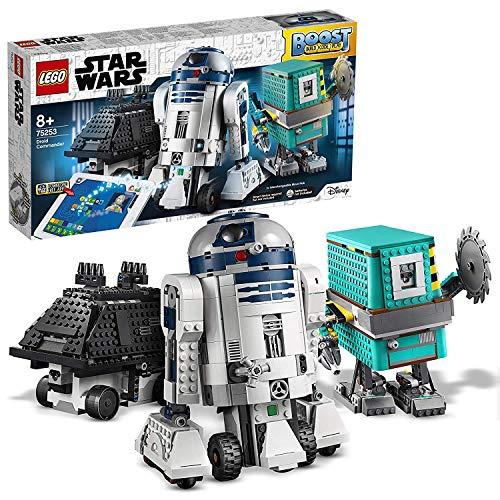 LEGO Star Wars - Boost Commandant des Droïdes - Jeu de Construction pour enfants 8 Ans et plus avec 3 robots contrôlés par application, inclus R2-D2, 1177 Pièces à Construire