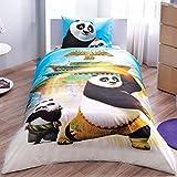 Kung Fu panda Movie singolo trapunta copripiumino singolo Dimensioni set copripiumino, lenzuolo e federa 100% cotone, prodotto con licenza originale con custodia