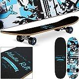 Deuba Planche à roulettes Skateboard - Atlantic Rift - Roues ABEC 7 - Modèle au choix