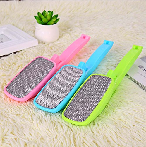 Pindia 1Pc Electrostatic Lint Remover Rotatable Brush Wool / Cotton / Fabric Lint / Pet Hair / Carpet Cleaning / Dust Remover Brush- Random Color  available at amazon for Rs.183