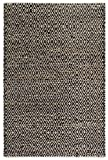FAB HAB Madera - Tapis Noir & Naturel en Jute & Coton recyclés (240 cm x 300 cm)