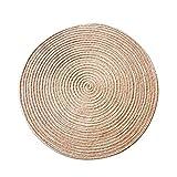 Tapis Rond Mat Mat Mat Tissage Corde Ordinateur Chaise Coussin Panier Pad Salon Chambre étude Tapis Tatami Maison (Color : A, Size : Diameter 40cm)