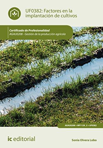 Factores en la implantación de cultivos. AGAU0208 - Gestión de la producción agrícola por Sonia Olvera Lobo