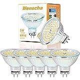 Wenscha 6er MR16 GU5.3 LED Lampe, 5W Warmweiß 2800K, Ersetzt 40W Halogenlampen,120° Abstrahwinkel, LED Spot, LED-Reflektorlampe, LED Leuchtmittel, Nicht Dimmbar