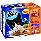 Felix Sensations Sauce Surprise Meat Selection 12 x 100 g (Pack of 4)