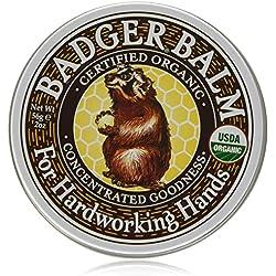 Badger Balm per Hard Mani funzionanti Certified Organic Bontà concentrato 56g