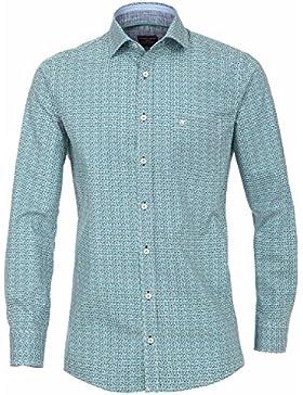Casamoda Herren Freizeit-Hemd blau blau / grün