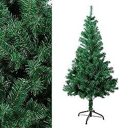 Ozavo, albero di Natale artificiale verde o bianco da 120, 180 o 210 di cm