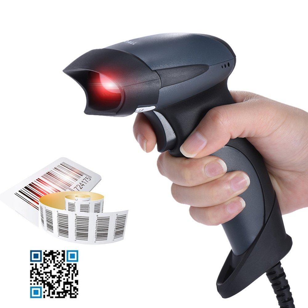 KKmoon Lecteur Code Barre RD-M5 2D USB Douchette Laser Scanner Supporte QR / PDF417 / DataMatrix Code