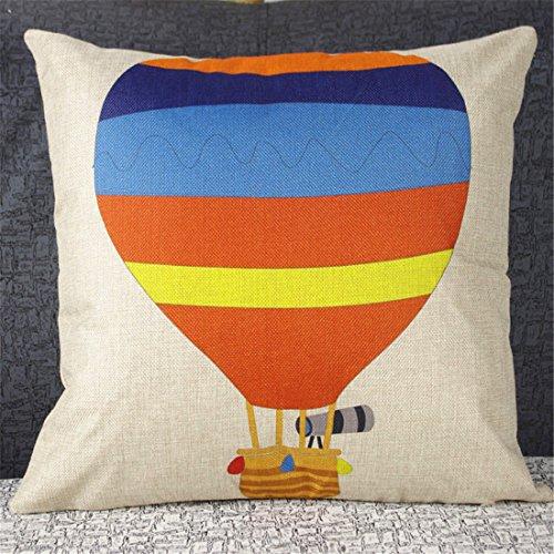 Luxbon Heissluft Ballon Kissenbezug Kissen Fall Sofa Taille Throw Cover Pillowcase Huelle Couch Stuhl Auto Sofa Haus Deko 45 x 45 cm Bunt