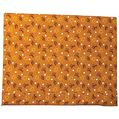 Bebelindo Sábanas 100% Algodón Cuna (60x120 cm) SAVANNAH Naranja