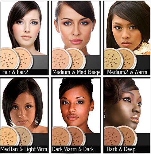 MEDIUM SKIN Mineral Makeup Kit Foundation 14 Piece COMPLETE SET Pure Natural Minerals With Organic Silk Primer, Full Cover by Intelligent Cosmetics�
