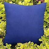 Coperture del cuscino del colpetto del divano del divano della decorazione domestica della pillola di Faux del solido di colore solido 2Pcs ( Color : Navy , Size : 45 x 45cm )