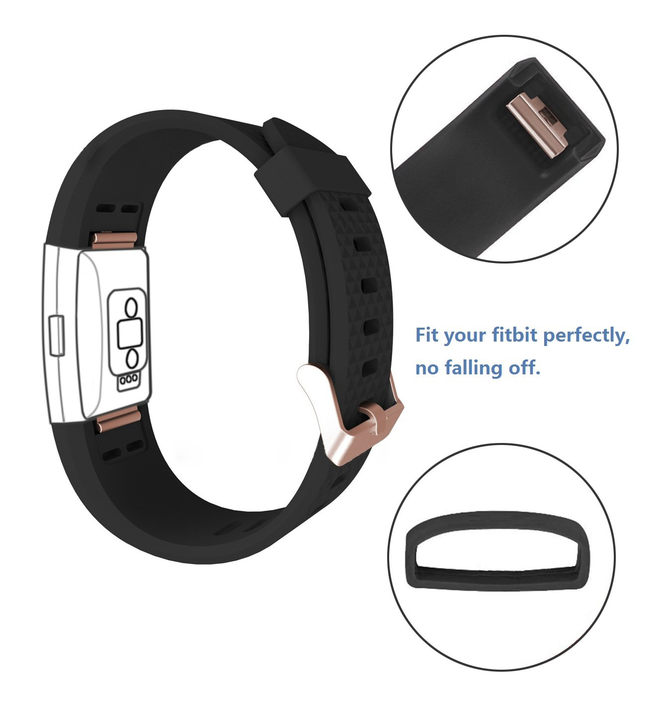 DD For Fitbit Charge 2 Straps, Replacement Accessories Watch