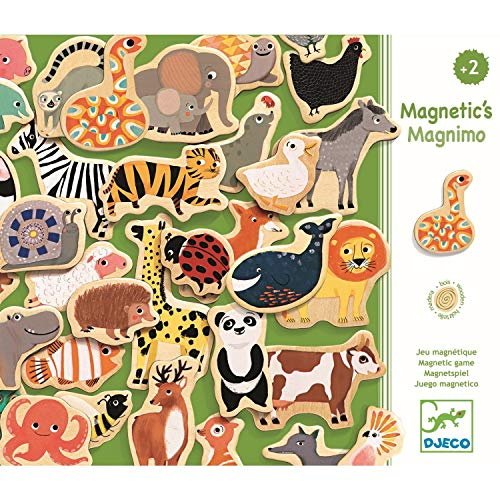 Djeco - Magnetspiel Magnimo aus Holz mit Tieren