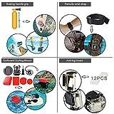 Leknes Zubehör Bundle Set für GoPro Hero 5 4 3+ 3 2 1, Sport-Kamera Zubehör Kit für Outdoor-Sport Fallschirmspringen Schwimmen Rudern Surfen Klettern Laufen Biking Camping Tauchen Ausflug -