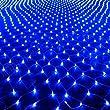 HJ® 204er LED-Lichternetz innen und außen Lichterketten Verbindbarer Entwurf Lichtfarbe: Blau, Kabelfarbe transparent
