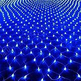 HJ 300 LEDs 3*2 m Lichternetz Twinkle Wasserdicht IP44 Weihnachtslichterkette Blau Lichterkette für Weihnachten Party Hochzeit außen innen Zimmer Konzerte
