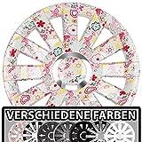 (Farbe und Größe wählbar!) 14 Zoll Radkappen ONYX (Flowers) passend für fast alle Fahrzeugtypen (universell) - vom Radkappen König