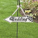 LianLe Wedding Wegweiser gerichtete Schild Pfeil Schild für Hochzeit