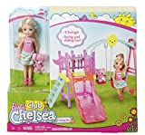 Enlarge toy image: Barbie DWJ46 Club Chelsea Swingset -  preschool activity for young kids