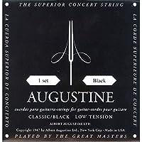 Augustine 650407 Corde per Chitarra Classica, Etichetta Nera, Set Standard-Cantini Regular Tensione, Corde Basse Light Tensione