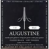 Augustine Klassik Gitarrensaiten Black Label Satz Regular Tension/Bassaiten Light Tension