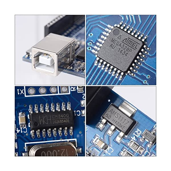 61TS2HkQ4XL. SS600  - XCSOURCE® Tablero UNO R3 Rev3 Desarrollo ATmega328P CH340G AVR Compatible Arduino + Cable para Arduino HUM TE113