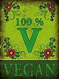 1art1 77981 Kochkunst - 100% Vegan Poster Kunstdruck 80 x 60 cm