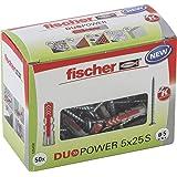 Fischer 535462 DUO POWER 5 x 25 S PH Universele stekker met schroef, 50 stuks