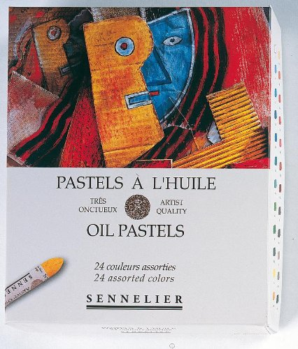 Sennelier Artists Oil Pastels - Set of 24 x Assorted Colours
