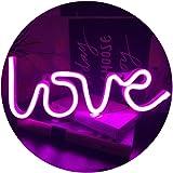 QiaoFei Néon Love Signs Light LED Amour Art Décoratif Signe de Chapiteau - Décoration Murale/Décoration de Table pour Fête de