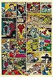 1Wall W2PL-MARVEL-001 Marvel Comic-Strip Wall Mural / Fototapete