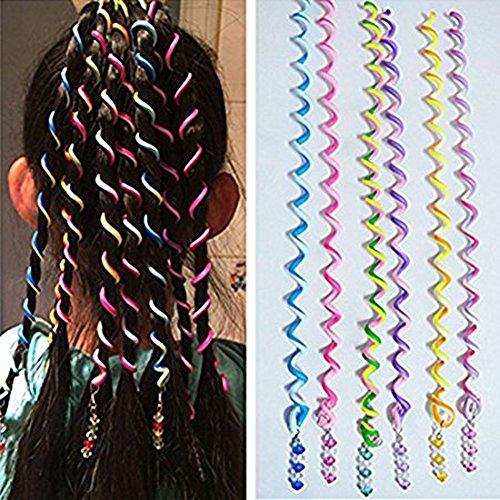 SwirlColor 6 PCS / Set-Frauen-Mädchen-Haar-Styling Twister Clip Braider Werkzeug DIY Zubehör