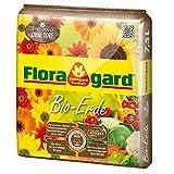 Floragard Bio-Erde ohne Torf 7,5 L • natürliche Bio-Universalerde für Balkon-, Kübel-, Zimmerpflanzen und Gemüse • torffrei • mit Bio-Dünger und Kompost