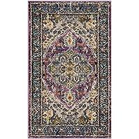 7e2bf8416d Safavieh Arya Woven Tappeto Tessuto, Materiali Sintetici, Viola/Blu Chiaro,  121 x