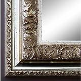 Online Galerie Bingold Spiegel Wandspiegel Badspiegel Flurspiegel Garderobenspiegel - Über 200 Größen - Rom Silber 6,5 - Außenmaß des Spiegels 50 x 80 - Wunschmaße auf Anfrage - Antik, Barock