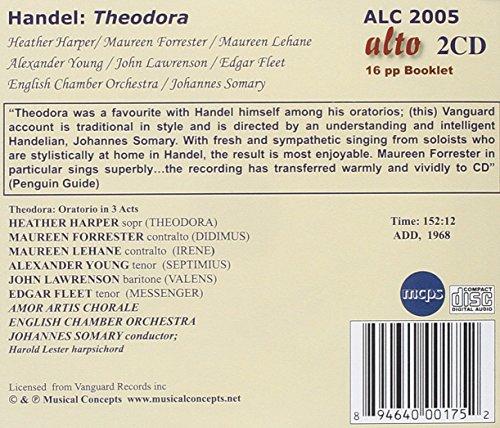 Theodora/Oratorio in 3 Acts [Import allemand]