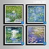 Modylee Espino blanco enmarcado cuadro linóleo cuadros decorativos pintura salón comedor dormitorio 1 PC Cuadro en Lienzo , 50*50*1