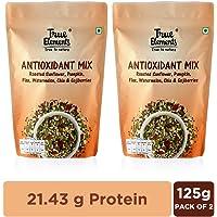 True Elements Antioxidant Mix Seeds - Roasted Sunflower, Pumpkin and Flax, Watermelon, Chia & Goji Berries, 250g (125g * 2)
