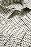 Hoggs of Fife Pure Cotton Tattersall Check Shirts Navy/Olive