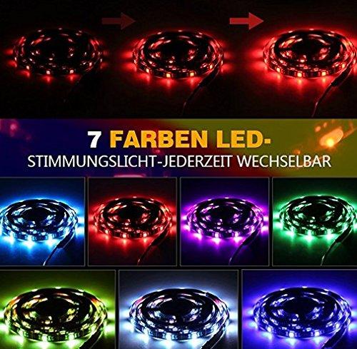 LED TV Hintergrundbeleuchtung, infinitoo LED Streifen 4*50CM Set, Usb LED Strip 5050 RGB mit Fernbedienung, LED TV Beleuchtung f¨¹r 40-60 Zoll TV, Fernseher, PC-Monitor, Desktop, Tische [Energieklasse A+++] (60 In Runde Tisch)