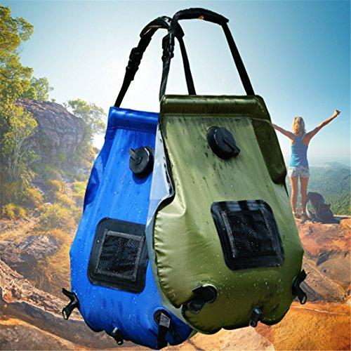 CFtrum Portable 20L PVC Solar Garten und Camping Dusche, Blau