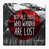 LetterNote Wanderlust MDF Coaster