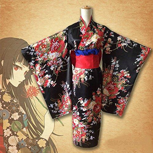Skylynn--Anime Hell girl kimono cosplay spielzeug Kleidung (Mailen uns Ihre Größe bitte) (S (Kostüm Kimono Hell Girl)